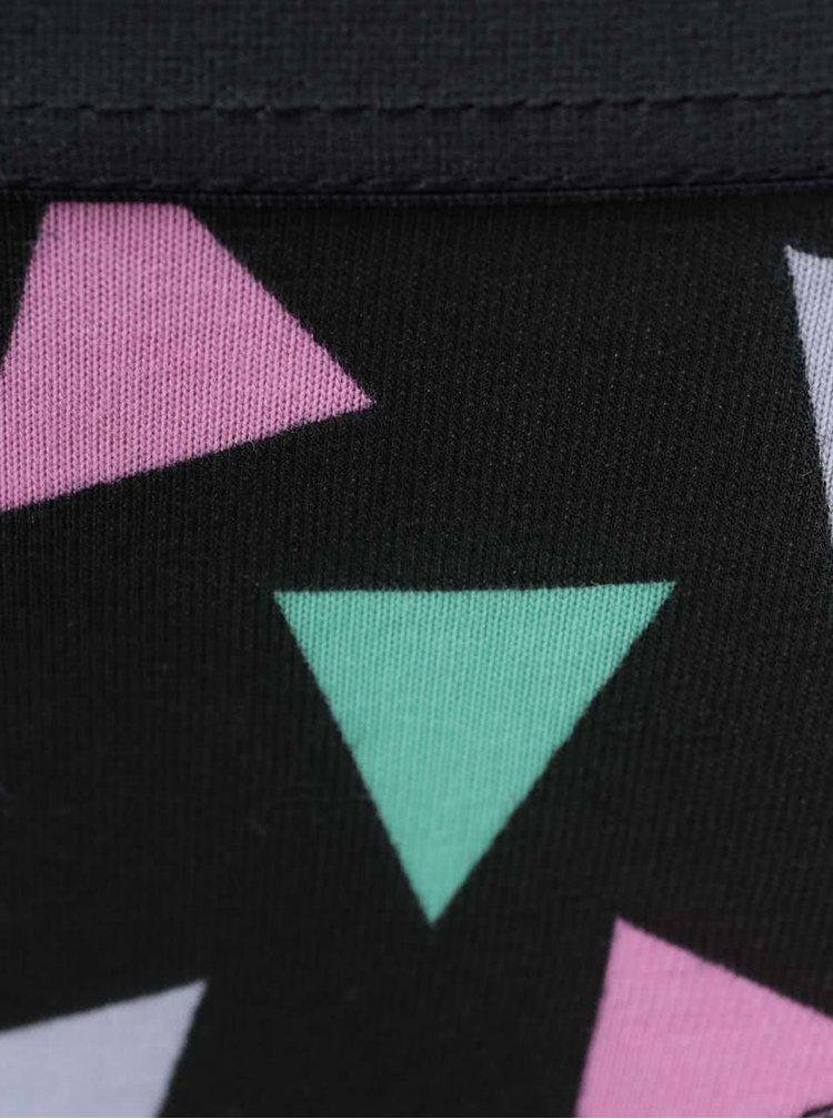 Čierne nohavičky s farebnými trojuholníkmi Happy Socks Random Triangle
