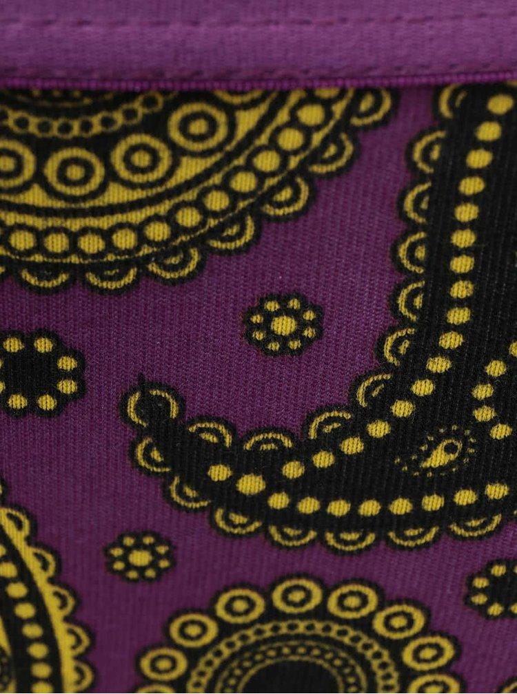 Fialové vzorované nohavičky Happy Socks