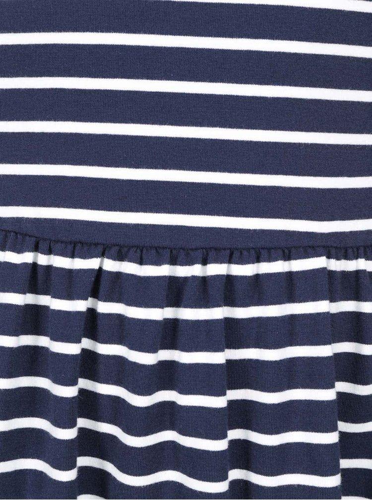 Bílo-modré pruhované šaty s krajkou ONLY Stella