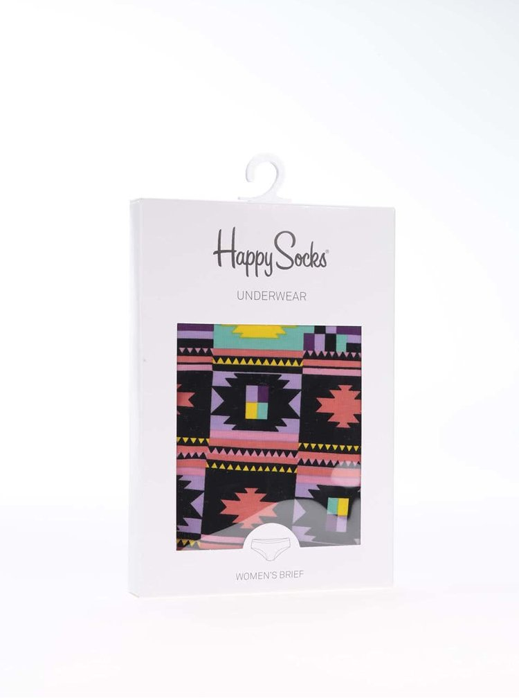 Barevné vzorované kalhotky Happy Socks Patch Inca