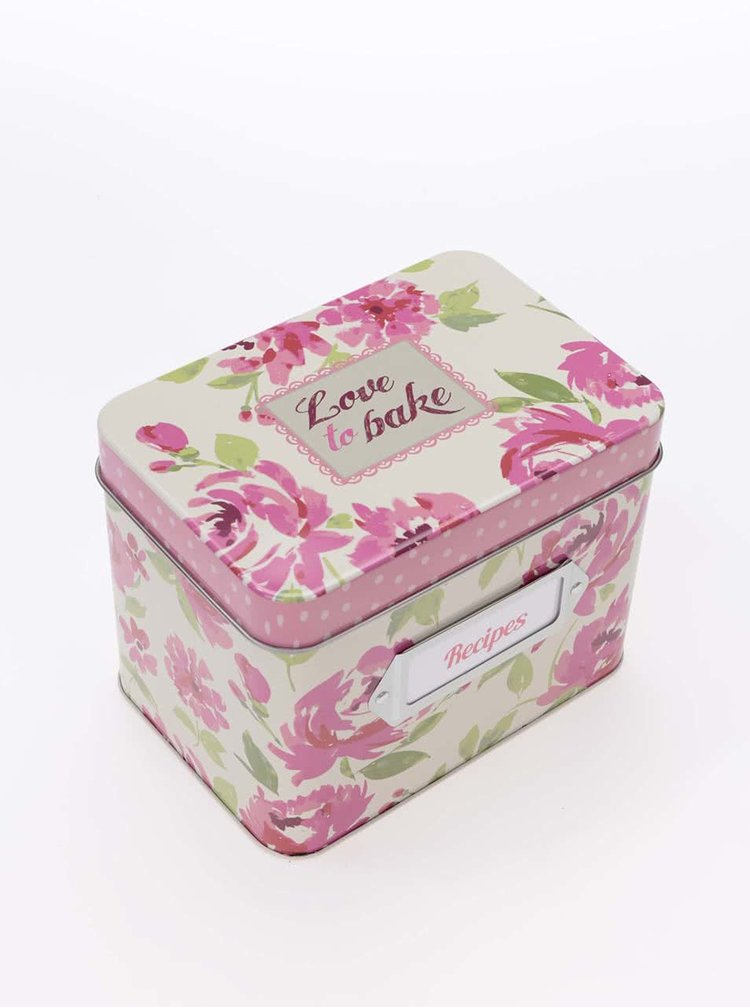 Farebný blok na recepty s krabičkou Cooksmart Love to Bake