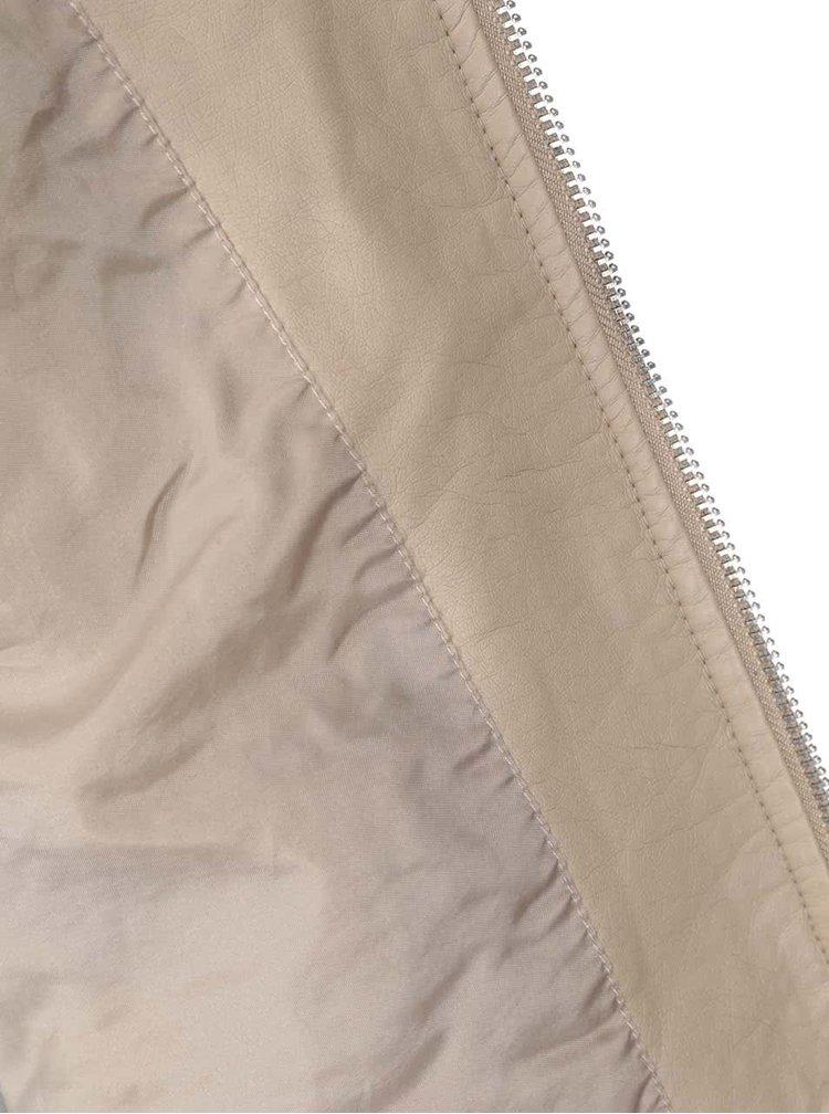 Béžova koženková bunda VERO MODA Irina