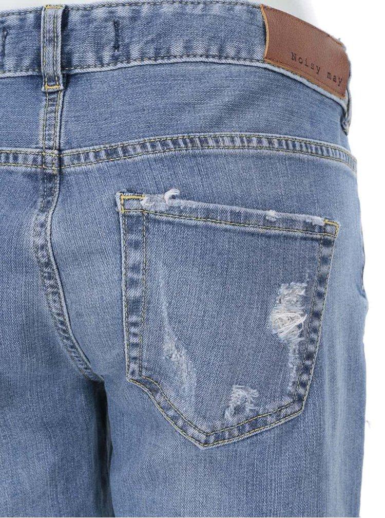 Modré džíny s ošoupaným efektem Noisy May Scarlet