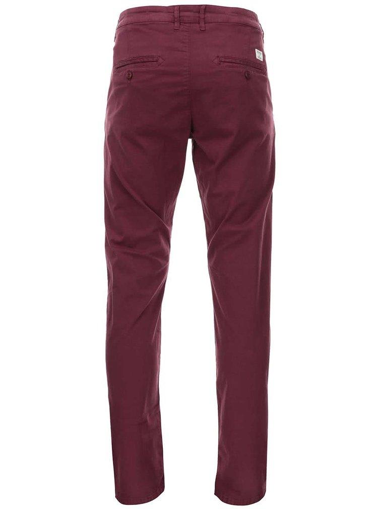 Vínové slim fit chino kalhoty Jack & Jones Bolton