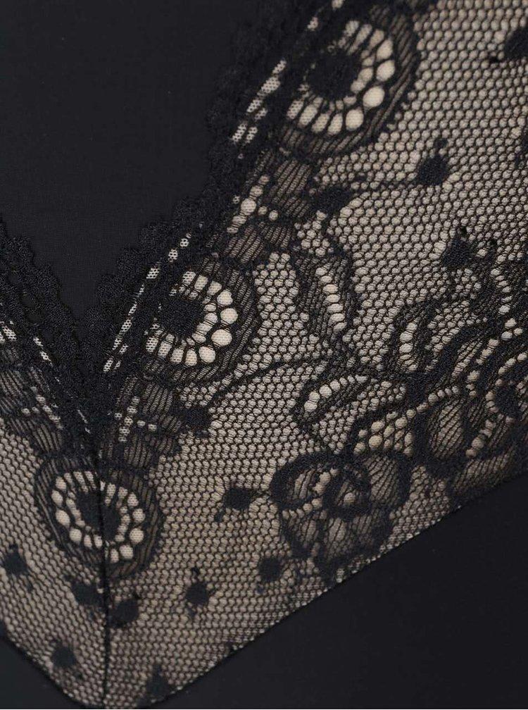 Čierne sťahovacie čipkované body DKNY