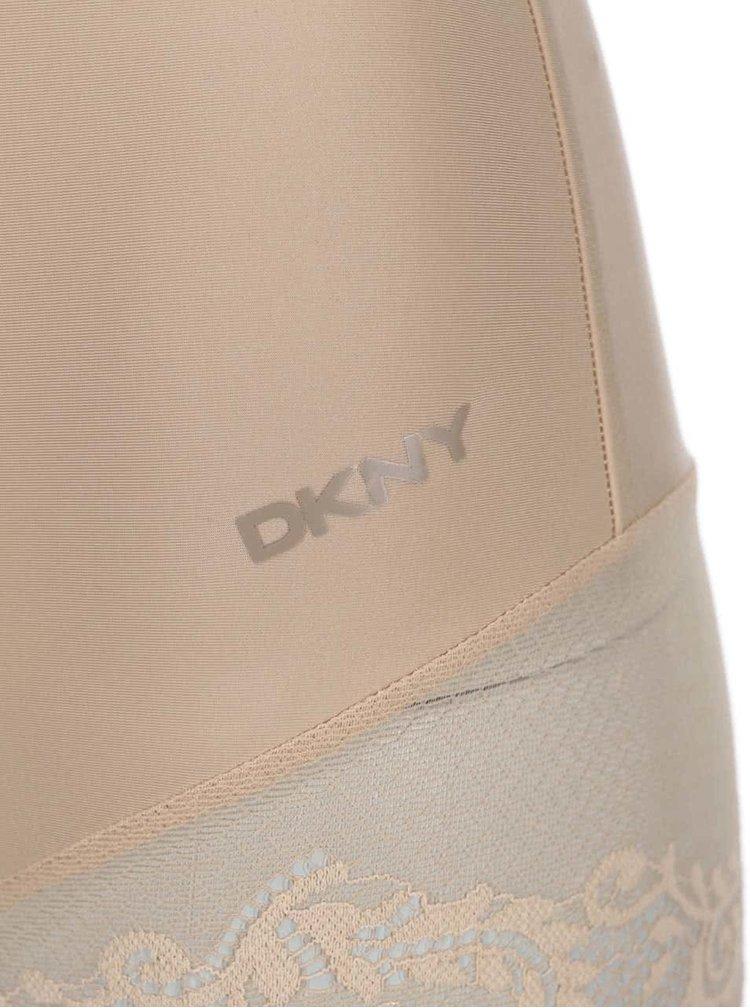 Krémové stahovací krajkové body DKNY