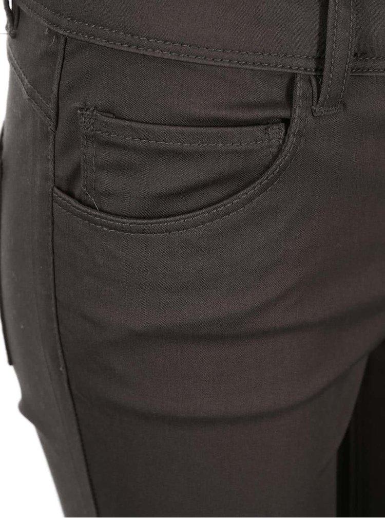 Hnědé skinny kalhoty ONLY Minna