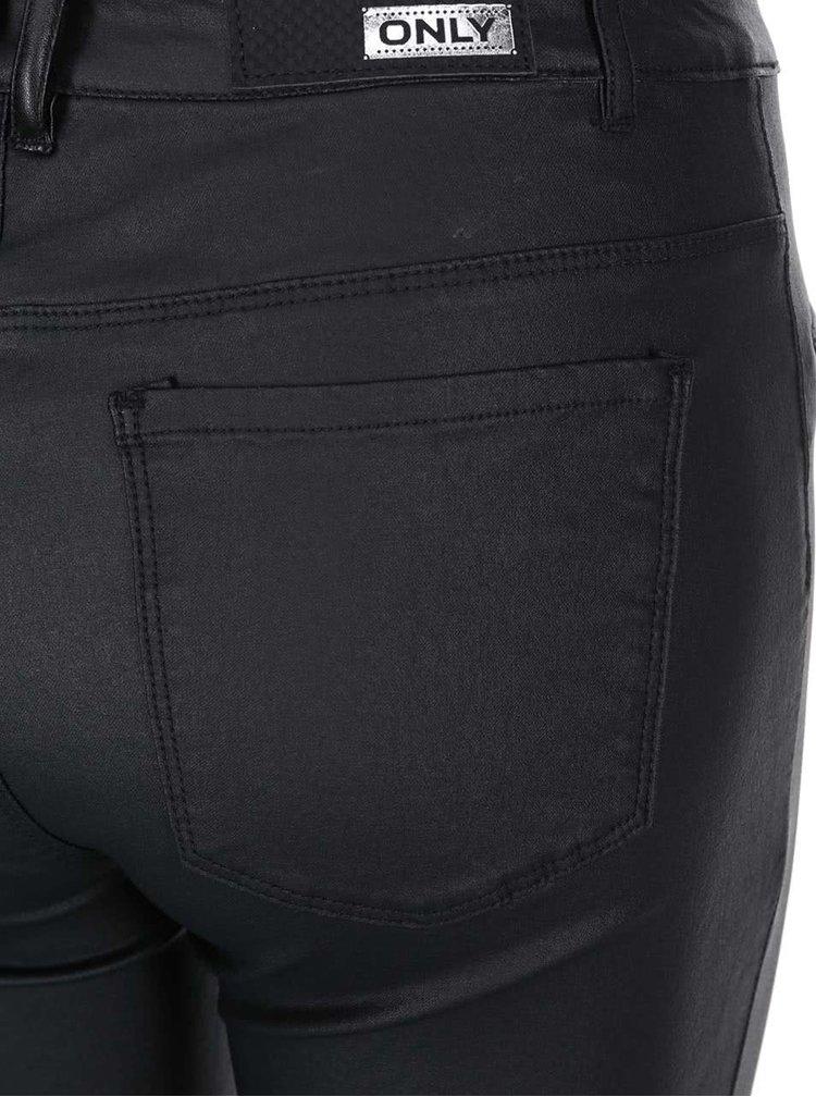 Černé lesklé kalhoty ONLY Natalie