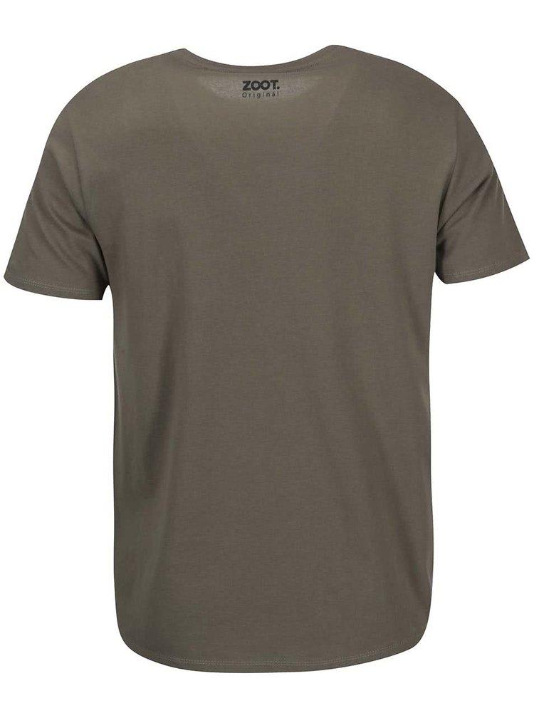 Kaki pánske tričko ZOOT Originál Kukačky