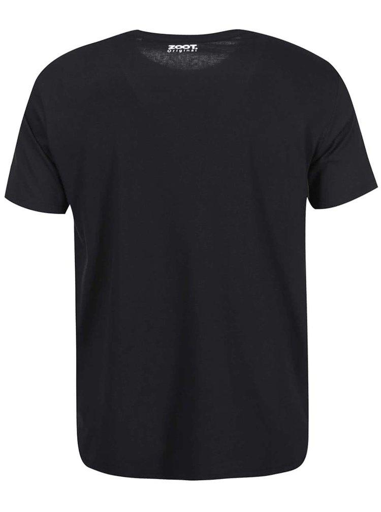 Černé pánské triko s fosforeskujícím potiskem ZOOT Originál Noční pták