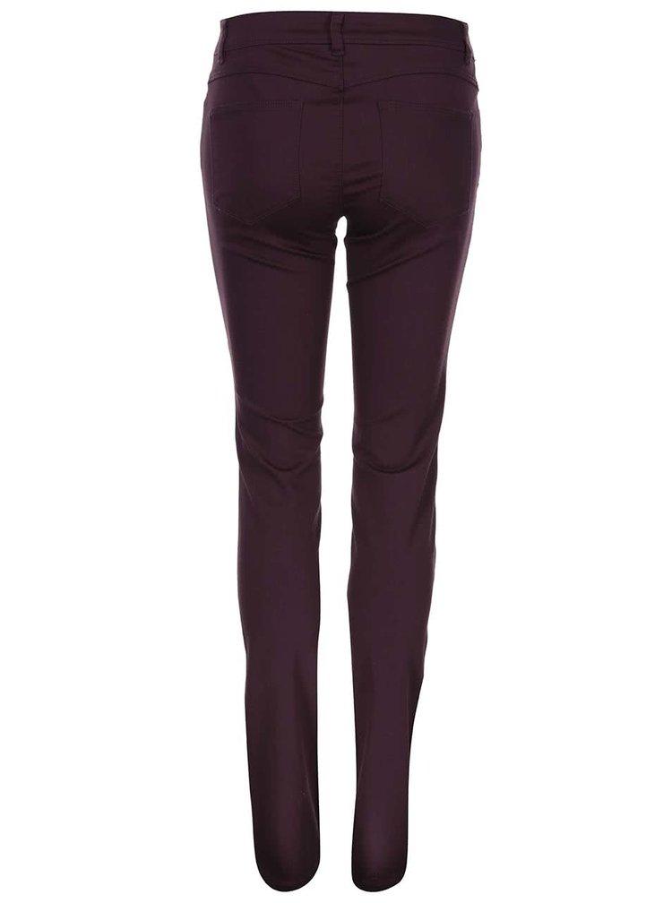 Vínové skinny kalhoty ONLY Minna