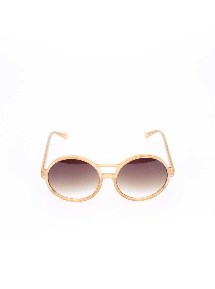 Růžové dámské sluneční brýle Komono Coco