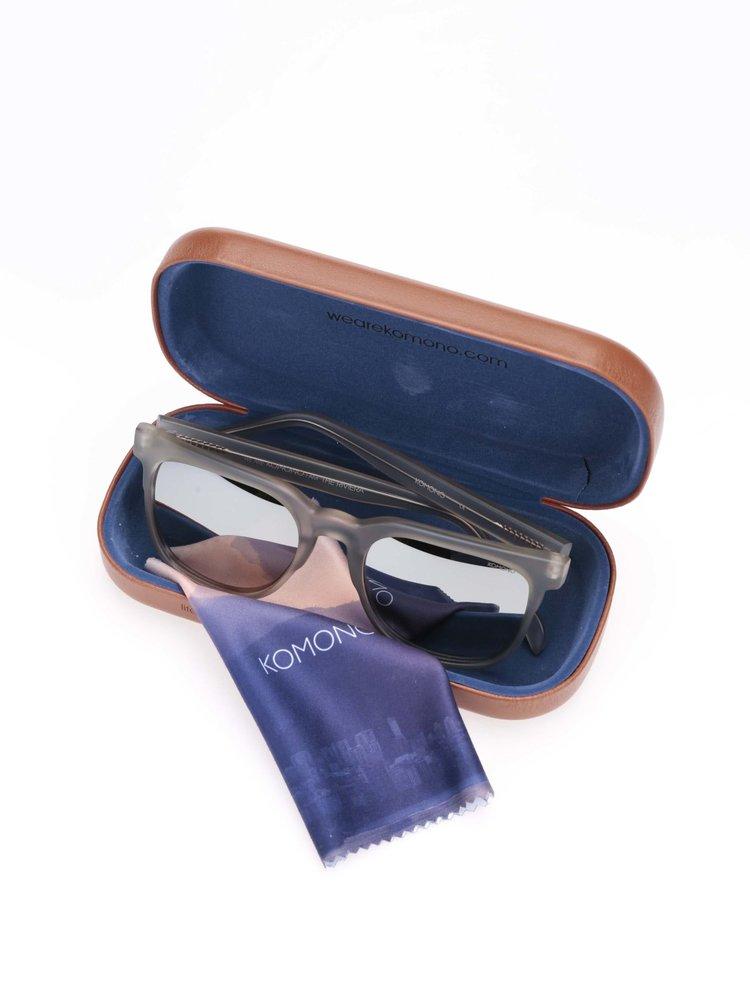 Transparentní unisex sluneční brýle Komono Riviera
