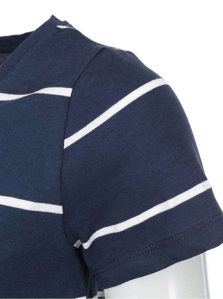 Tmavomodré modré pruhované tričko VERO MODA Molly
