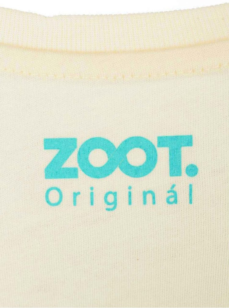 Tricou ZOOT Original Good Morning alb de dama