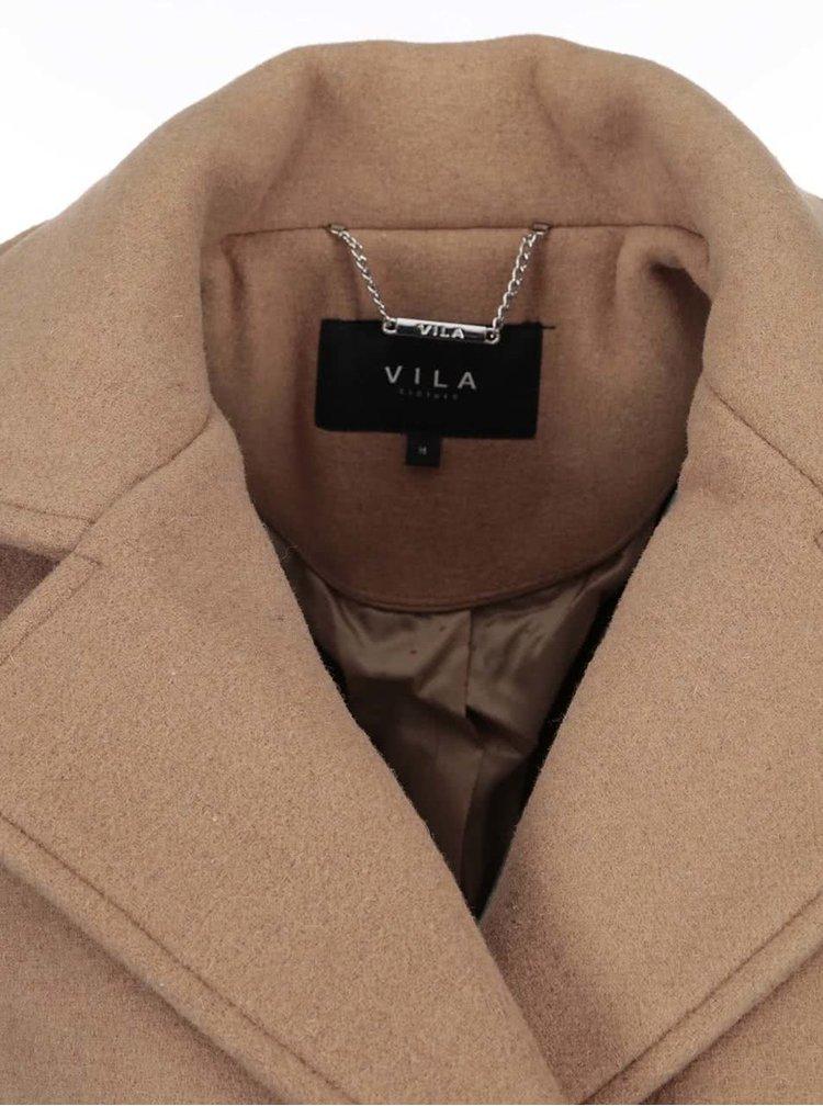 Světle hnědý kabát VILA Sound