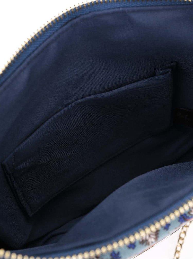 Tmavomodrá vzorovaná kabelka Ruby Shoo New York