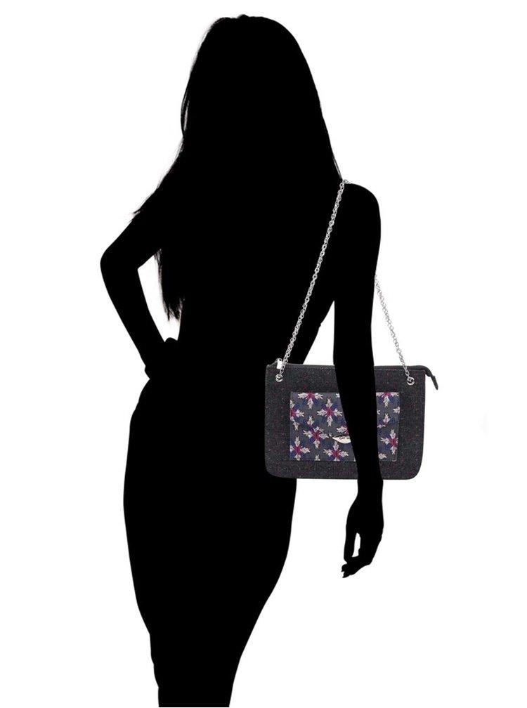 Tmavosivá vzorovaná kabelka Ruby Shoo New York