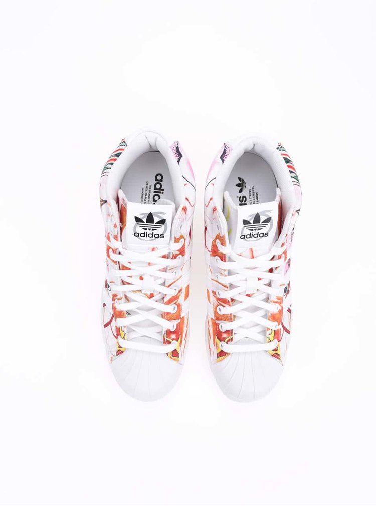 Barevné dámské tenisky se skrytým klínkem Adidas Superstar