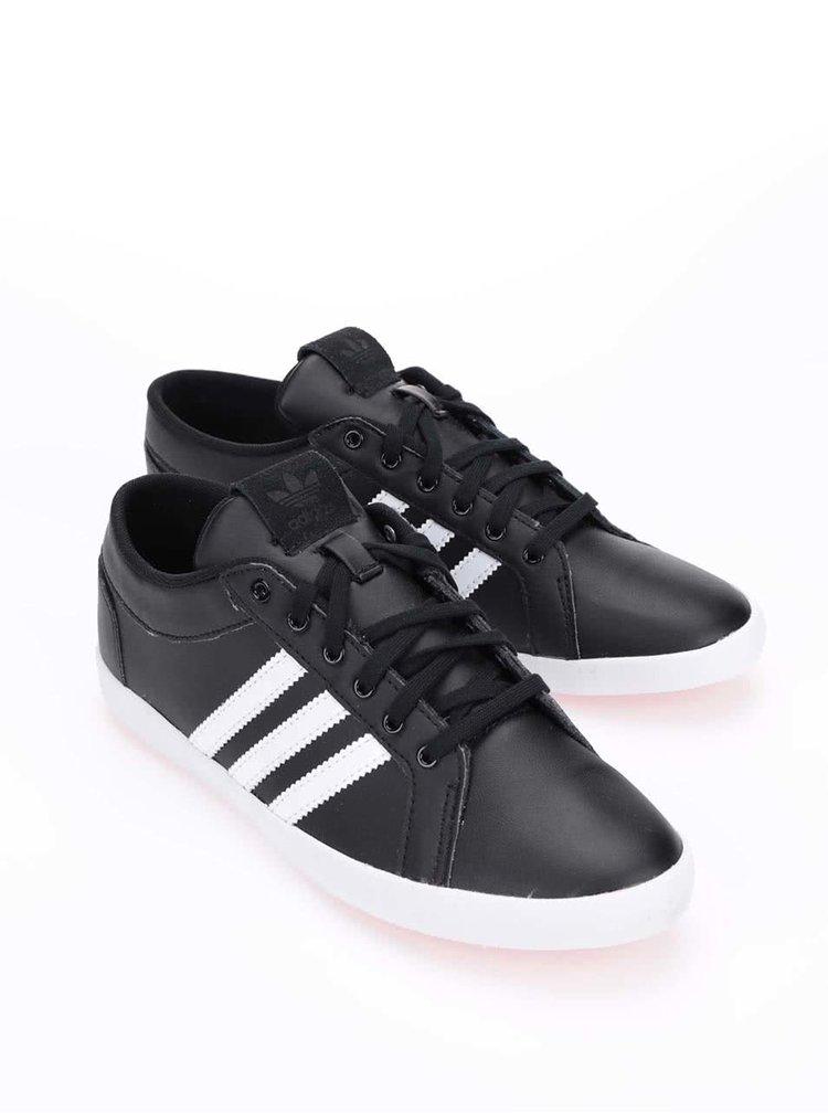 Černé dámské kožené tenisky adidas Originals Adria