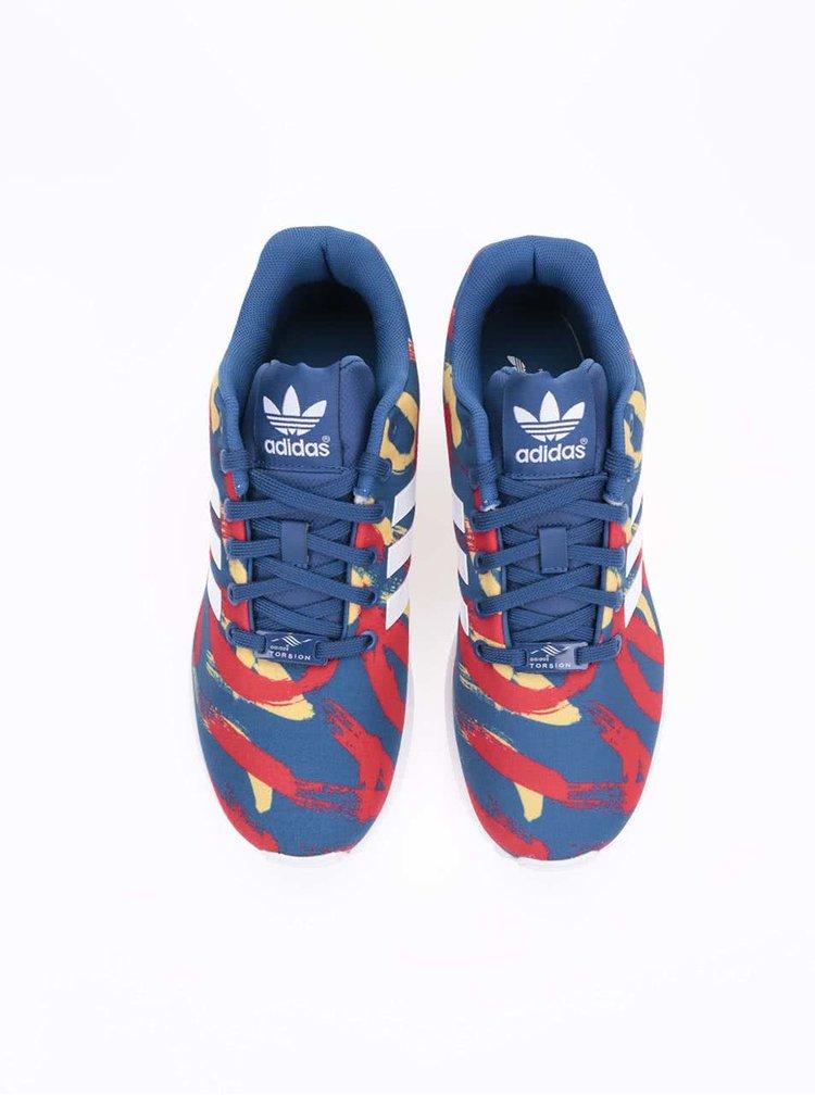 Červeno-modré dámske tenisky adidas Originals Flux W