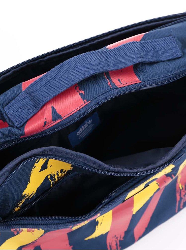 Tmavomodrá dámska taška s potlačou adidas Originals Paris