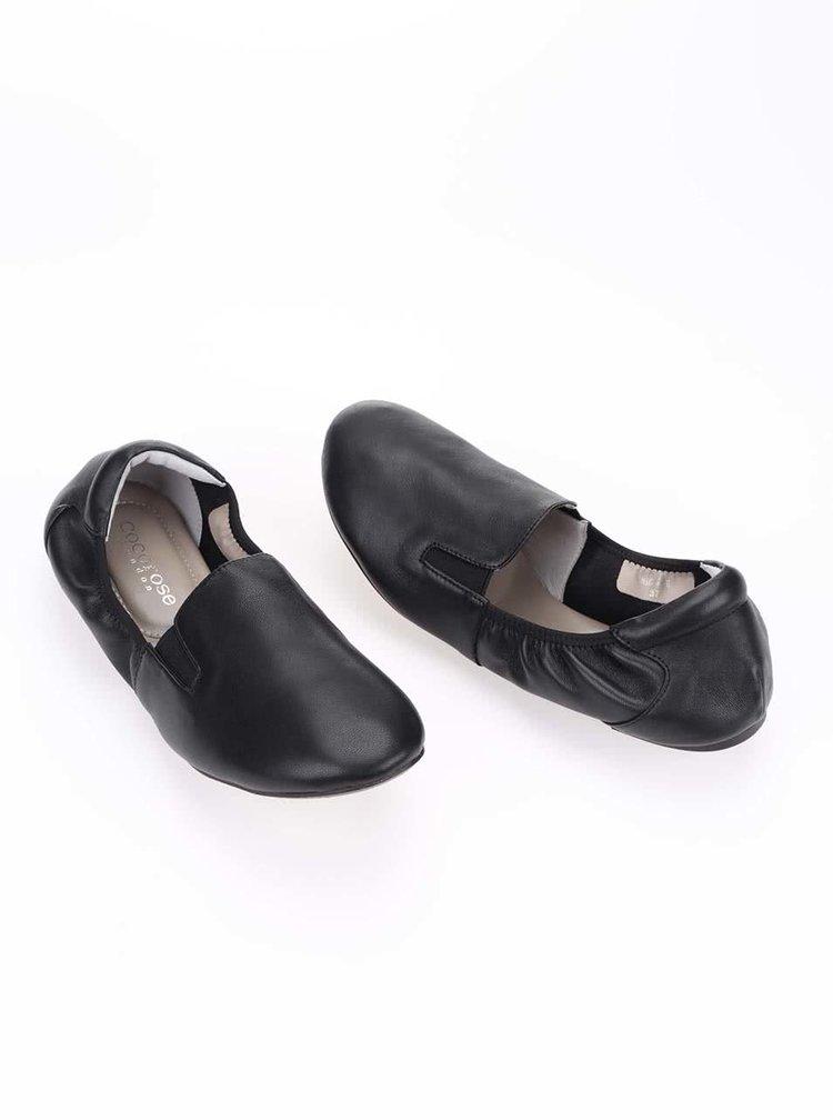 Černé kožené loafers Cocorose London Highgate