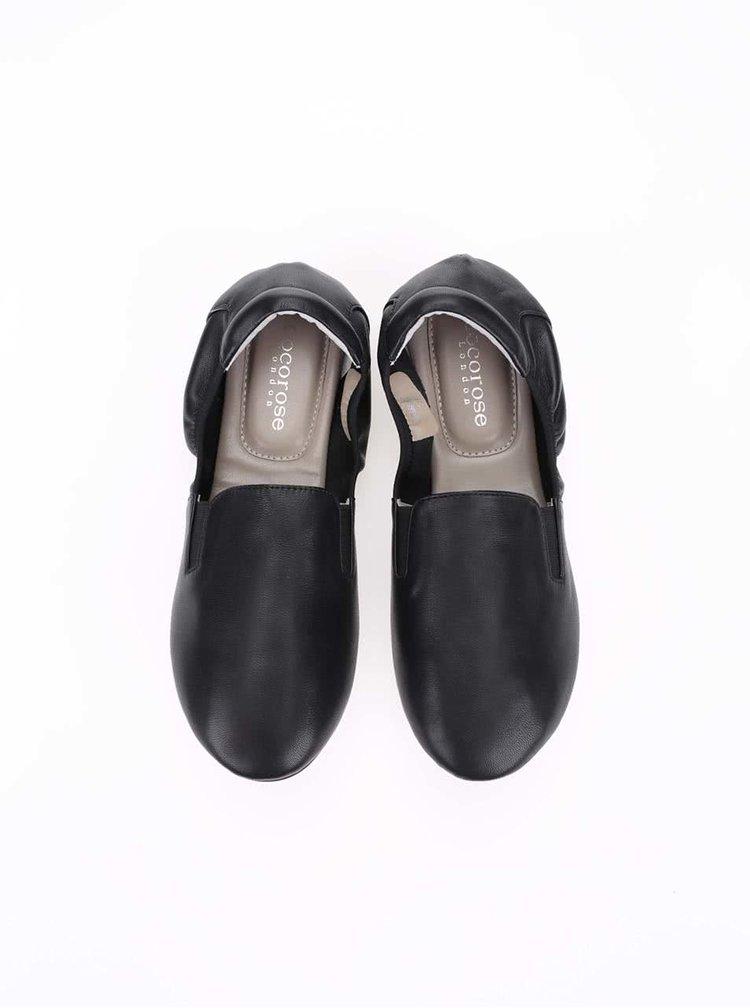 Čierne kožené loafers Cocorose London Highgate