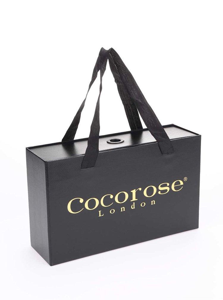 Modro-hnědé kožené tenisky Cocorose London White City