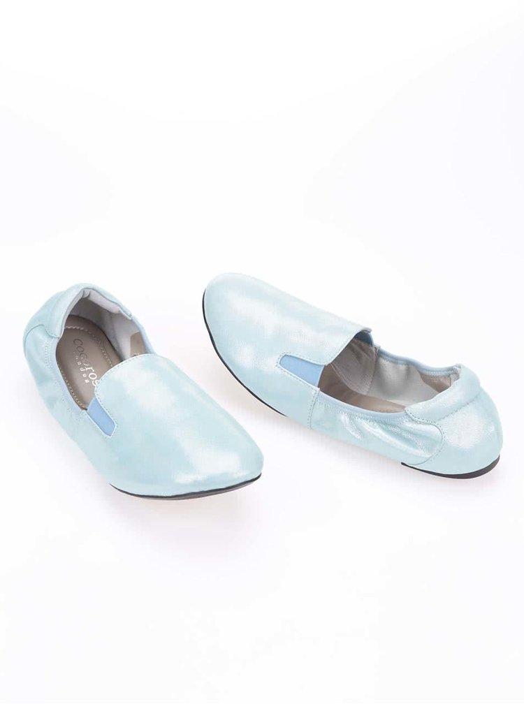 Modrozelené kožené loafers Cocorose London Highgate