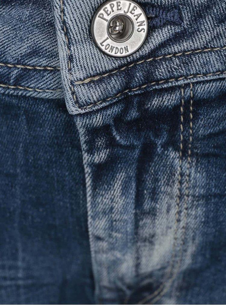 Tmavě modré dámské vyšisované džíny Pepe Jeans Mercure