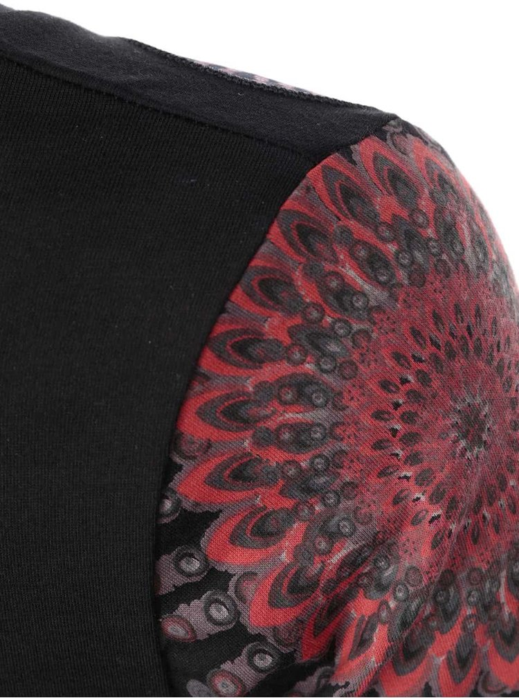 Černé šaty se vzorem Desigual Olgare