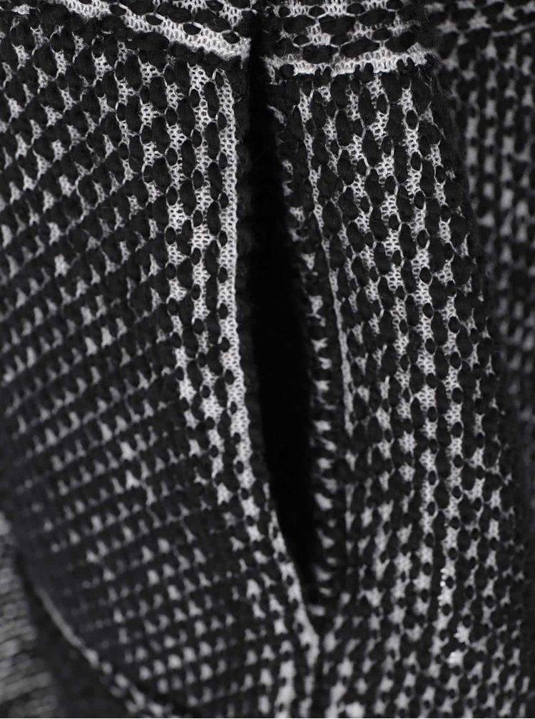 Sivo-čierny kardigan Vila Maltes