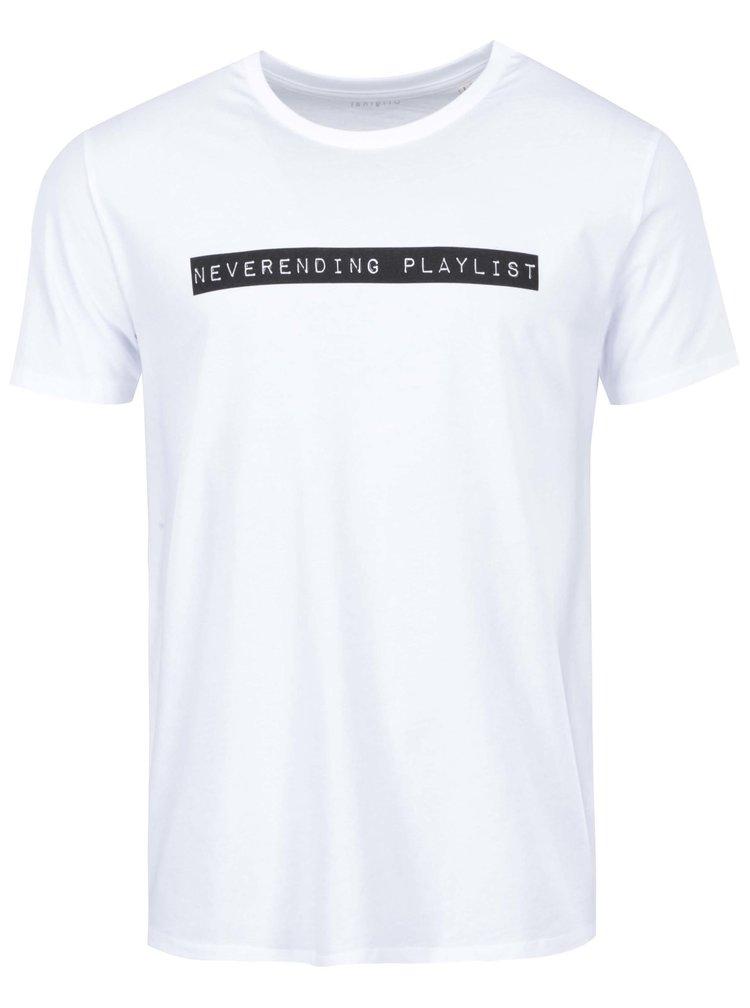 Biele pánske tričko ZOOT Originál Neverending playlist