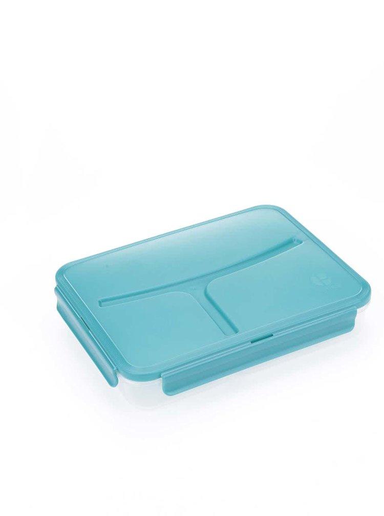 Tyrkysový vzorovaný box na obed Prêt à Paquet