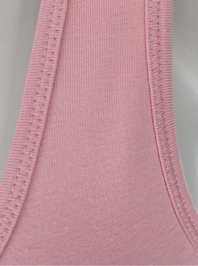 Světle růžové tílko s krajkou ONLY Long Lace