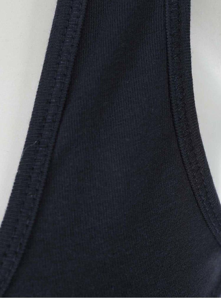 Tmavě modré tílko s krajkou ONLY Long Lace