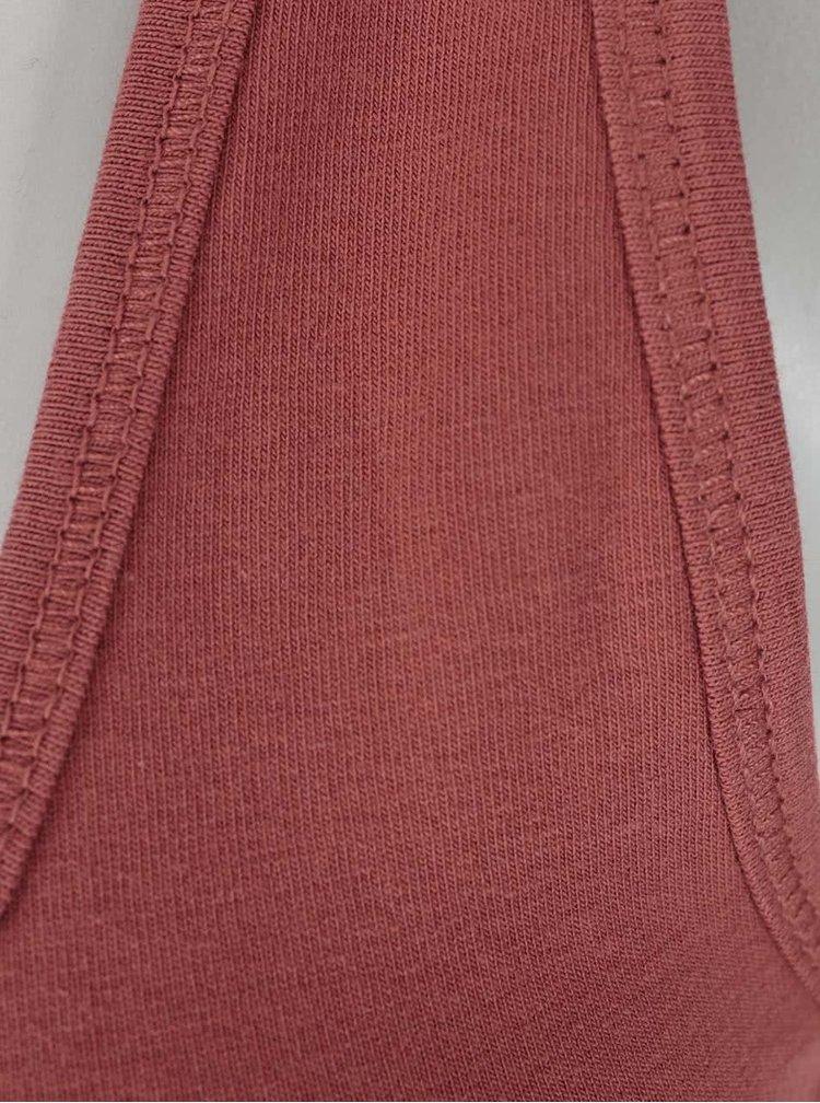 Tehlové tielko s čipkou ONLY Long Lace