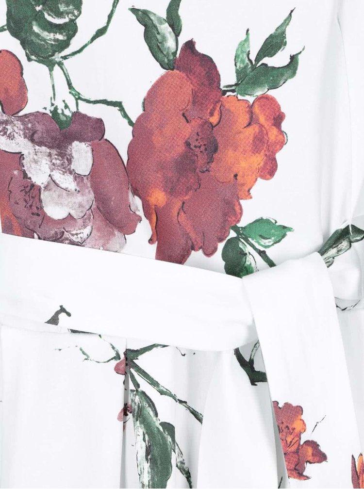 Rochie albă cu flori roșii Closet