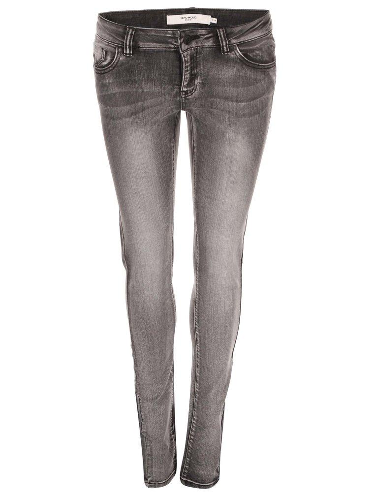 Světle šedé skinny džíny VERO MODA Five