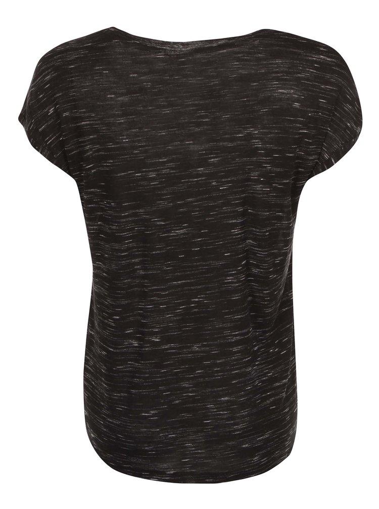 Tricou cu mânecă scurtă, negru, cu imprimeu, de la Noisy May Jimmy