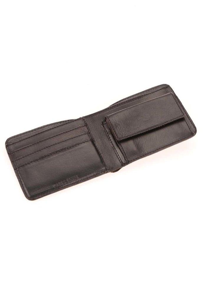 Čierna kožená peňaženka Jack & Jones