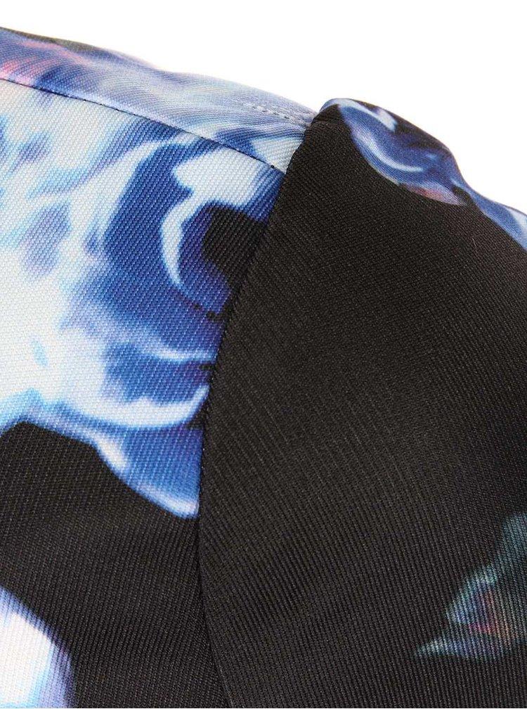Rochie neagră cu flori albastre și spate decoltat de la Girls on Film