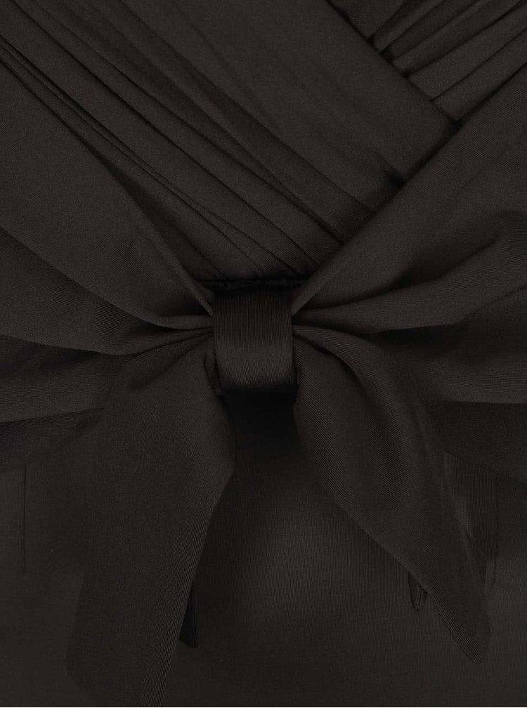 Rochie neagră strâmtă cu fundă de la Girls on Film