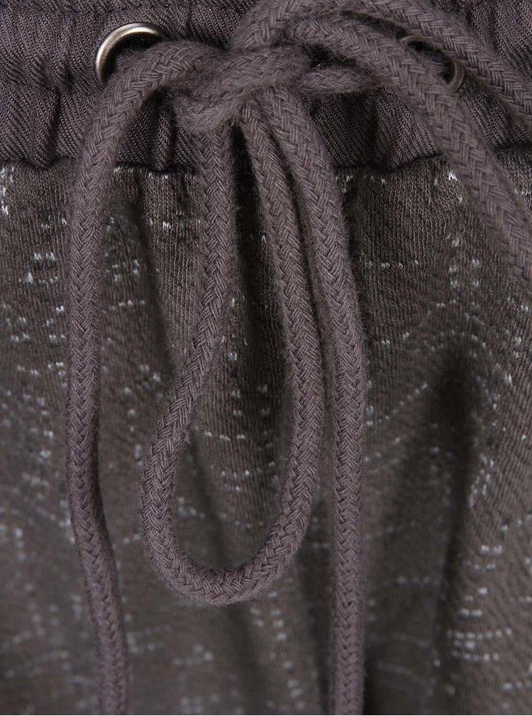 Tmavě šedé vzorované tepláky VERO MODA Sparkle