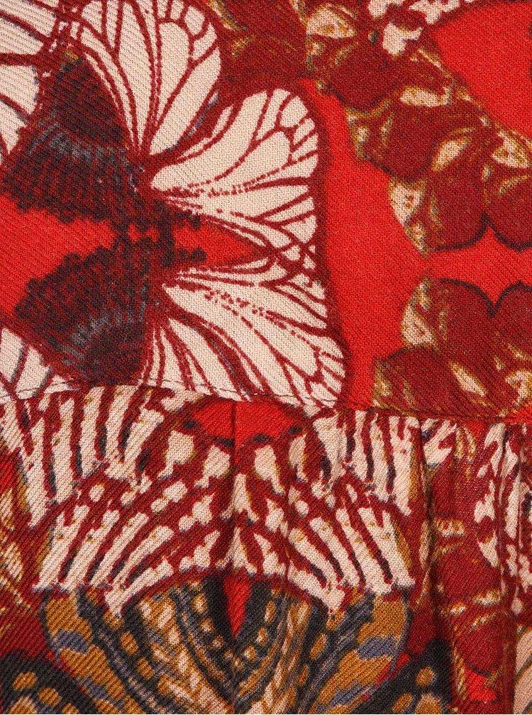 Červený kvetinový blejzer VERO MODA Ani