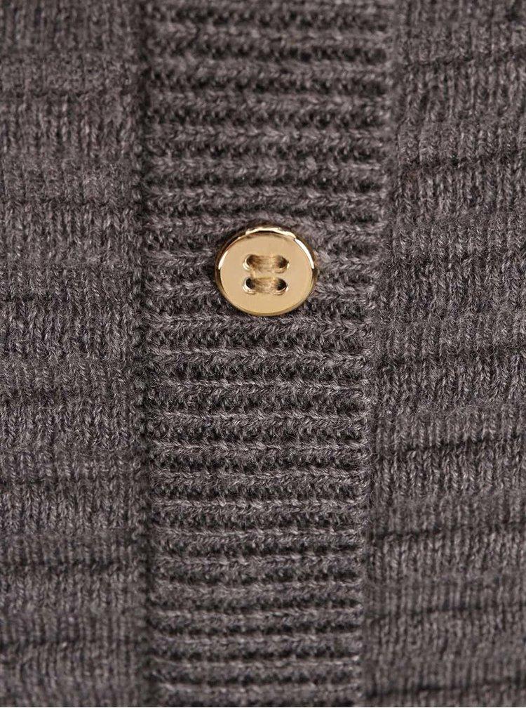 Sivý sveter s gombíkmi na chrbte VERO MODA Forever