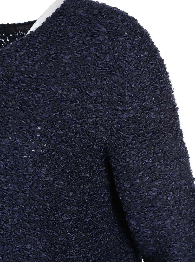 Pulover albastru închis ONLY Geranium