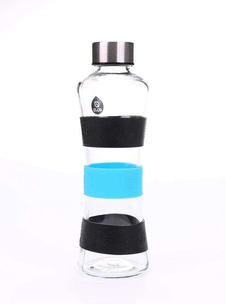 Skleněná láhev s černými a modrými detaily EQUA CMYK SQUEEZE (550 ml)