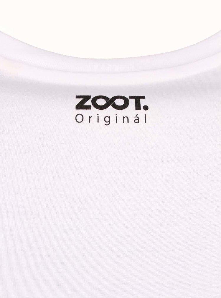 Tricou barbatesc ZOOT Original There alb